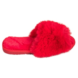 Bona Stilvolle rote Hausschuhe