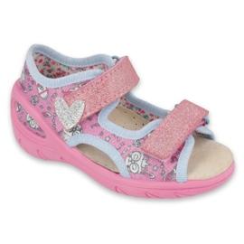 Befado Kinderschuhe pu 065X147 pink silber grau