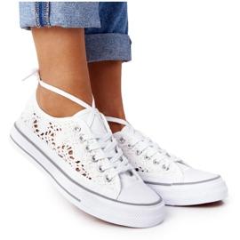 FB2 Weiße Candice Lace Sneakers für Damen