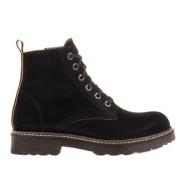 Marco Shoes Hohe Stiefeletten, Stiefel auf einer durchscheinenden Sohle gebunden schwarz