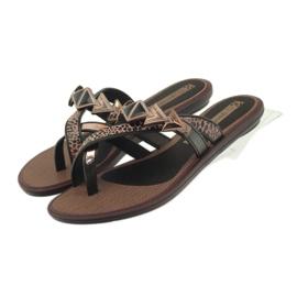 Ipanema braun Flip Flops Damenschuhe mit Grendha-Steinen