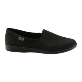 Schwarze Slip-On Hausschuhe Befado 001M060