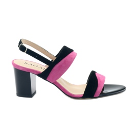 Sandalen für Frauen Sagan 2687 schwarz fuchsia