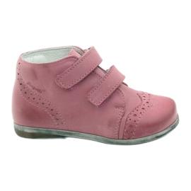 Rosa Hugotti Klett-Lederschuhe pink