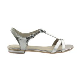 Damen Sandalen EDEO wz.3087 Silber grau