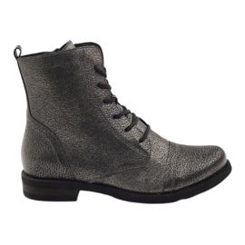Edeo Stiefeletten workery schwarz metallic