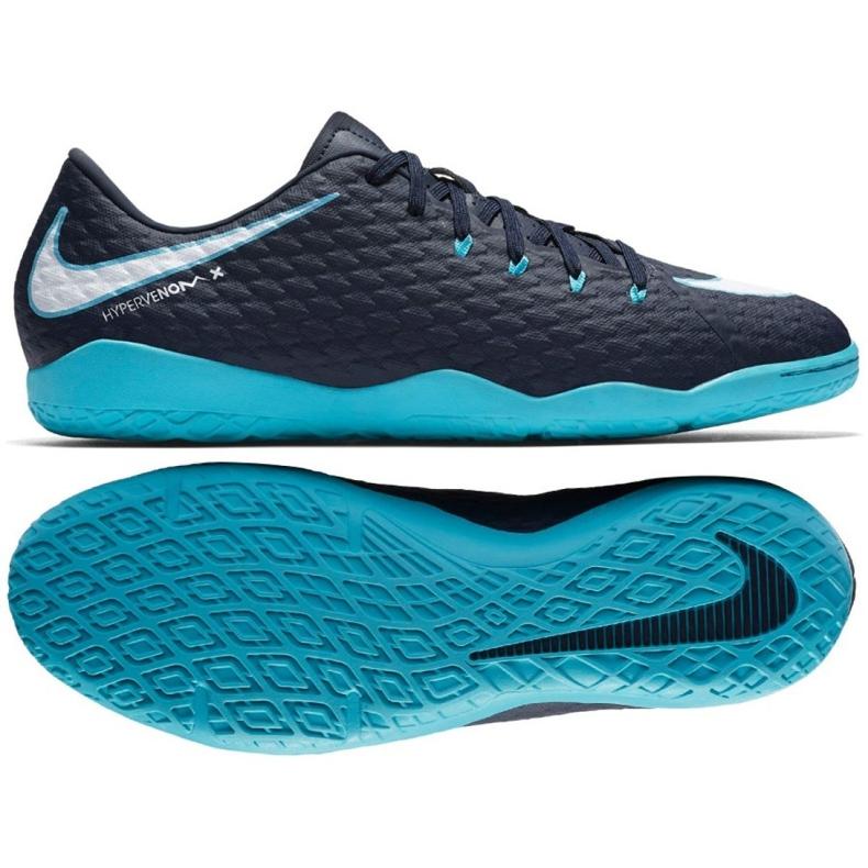 Hallenschuhe Nike HypervenomX Phelon Iii Ic marine marine, blau