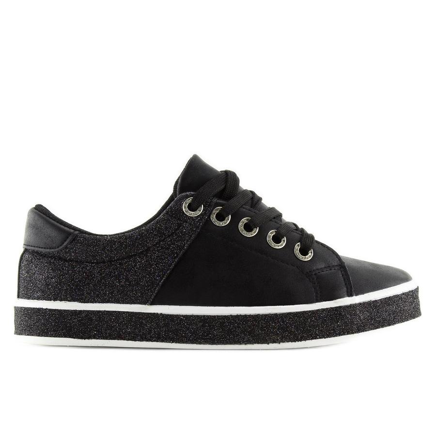 be300d32eee9 Schwarze Damen Sneakers schwarz BL125 Schwarz