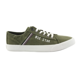 Big Star grün Großer Stern Turnschuhe 174315 khaki Turnschuhe