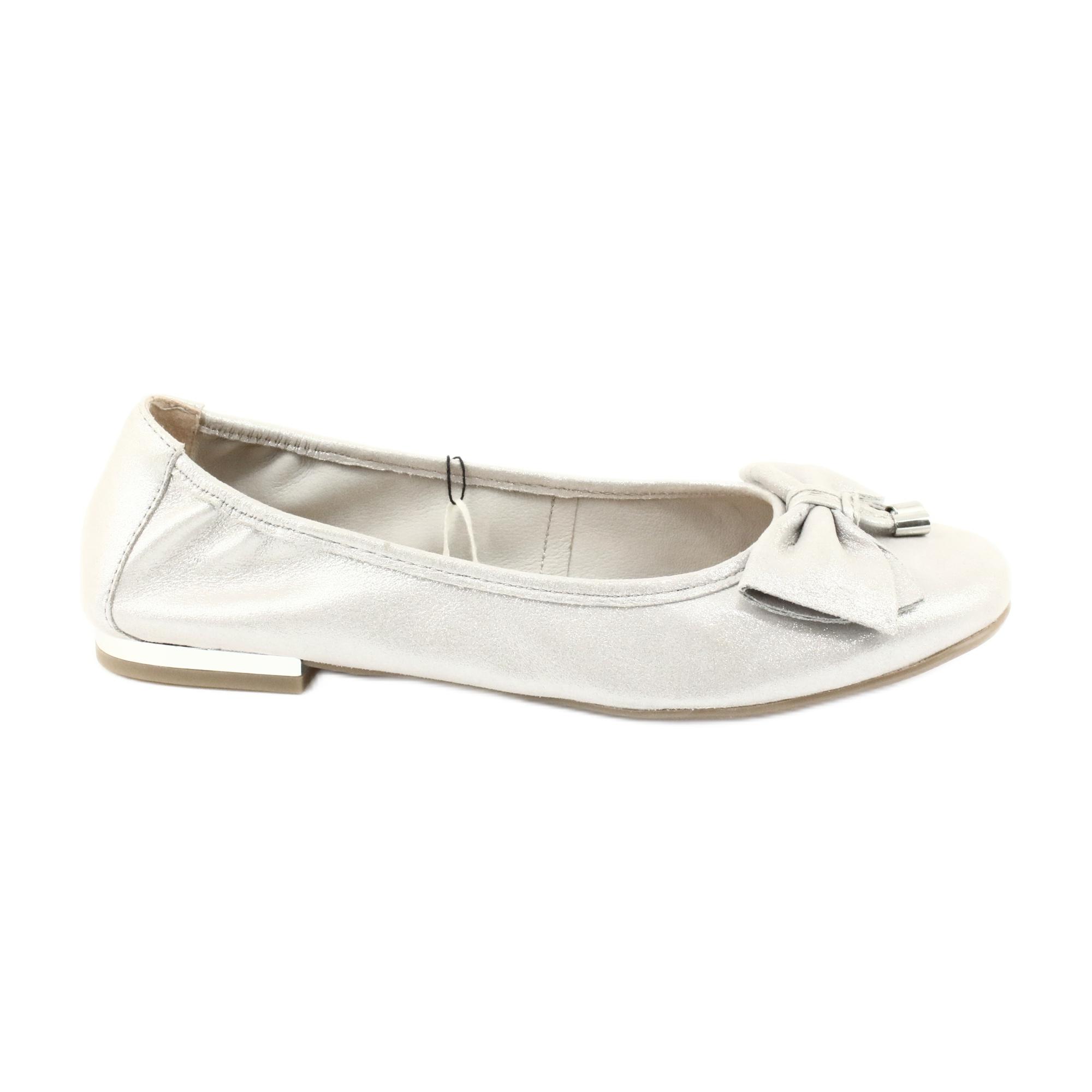 Caprice Ballerinas Schuhe 22111 Silber grau
