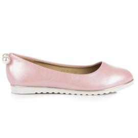 Vinceza Pearly Ballerinas pink