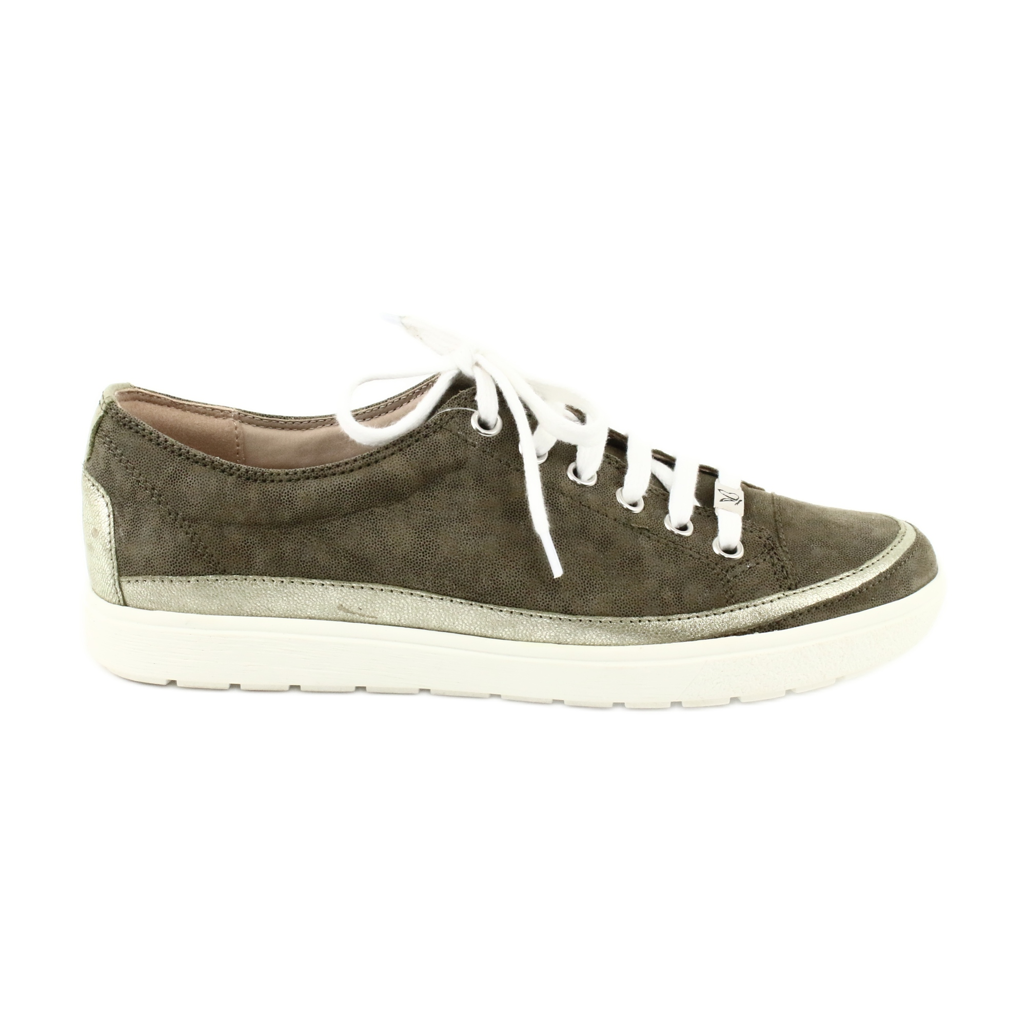 buy online 9e055 bb555 Grün Caprice Damenschuhe Leder Sneakers 23654