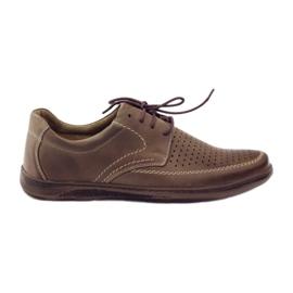 Braun Riko Herrenschuhe mit perforierten Schuhen 848