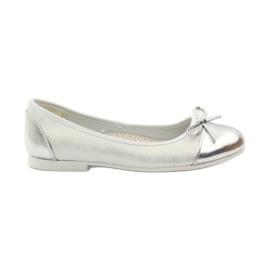 American Club weiß Ballerinas Schuhe mit einem amerikanischen Bogen