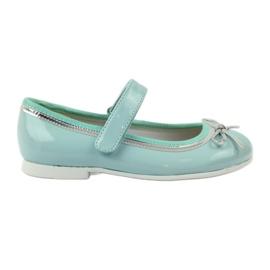 American Club grün Ballerinas Schuhe mit einem amerikanischen Bogen