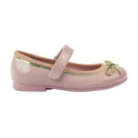 American Club Ballerinas Schuhe mit einem amerikanischen Bogen pink