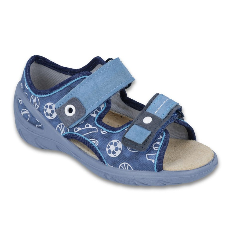 Befado Kinderschuhe PU 065X118 blau