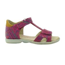 Ren But pink Velcro Sandalen, Aztekenmuster Ren Aber 3296