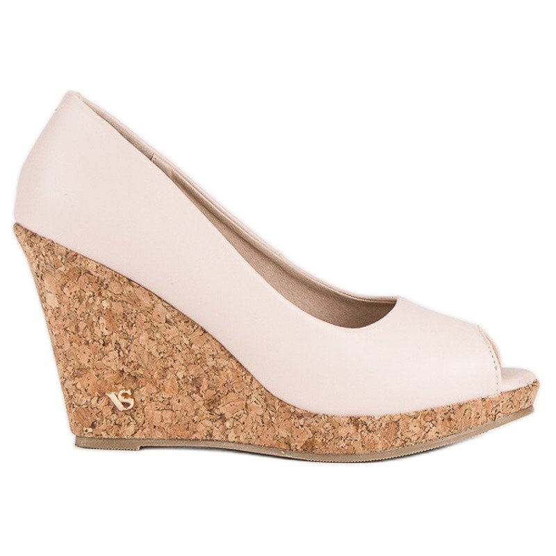 new arrival 8351a 7c81c Pink Plateauschuhe Open Toe VICES