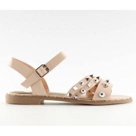 Sandalen auf flachem Rosa 99-19 Pink