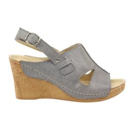 Grey Gregors 533 Sandalen grau