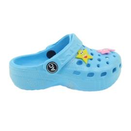 American Club Crocsy Flip-Flops blau amerikanisch