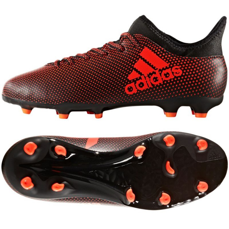Fußballschuhe adidas X 17.3 Fg Jr S82368 mehrfarbig rot