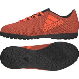 Fußballschuhe adidas X 17,4 Tf Jr S82422 orange schwarz, orange