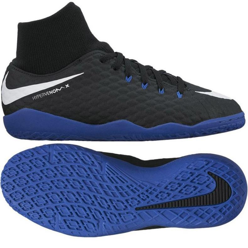 Hallenschuhe Nike HypervenomX Phelon III DF IC Jr 917774-002 schwarz