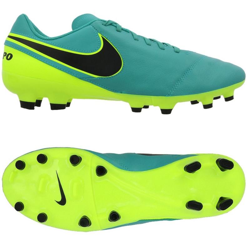 Fussballschuhe Nike Tiempo Genio Ii Fg M 819213 307 Turkis Schwarz Gelb Turkis