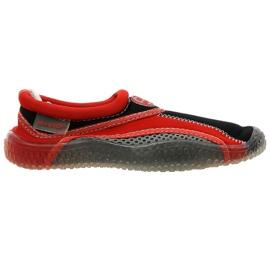 Aqua-Speed Jr. Neopren Strandschuhe rot-grau