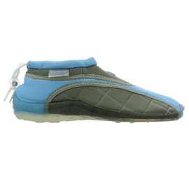Aqua-Speed Jr. Neopren Strandschuhe blau-grau