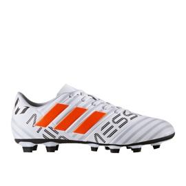 Fußballschuhe adidas Nemeziz Messi 17.4 FxG M S77199 weiß, orange weiß