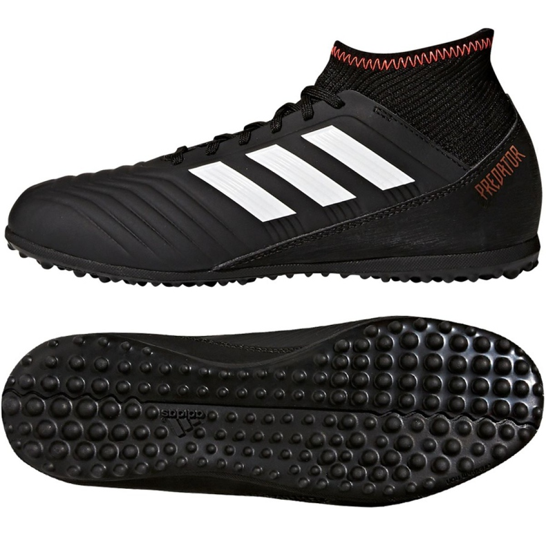 Fußballschuhe adidas Predator Tango 18.3 Tf Jr CP9039 schwarz schwarz