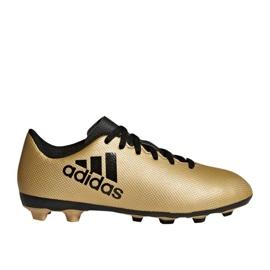 Fußballschuhe adidas X 17.4 FxG Jr CP9013 gold