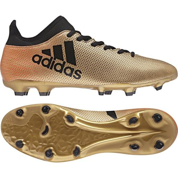 Fußballschuhe adidas X 17.3 Fg M CP9190 gold, schwarz mehrfarbig