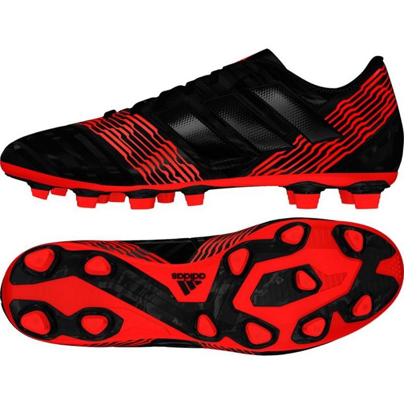 Fußballschuhe adidas Nemeziz 17.4 FxG M CP9006 schwarz, rot schwarz