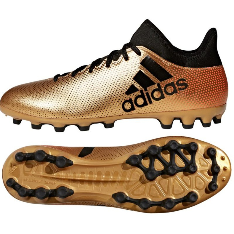 Fußballschuhe adidas X 17.3 Ag M CP9233 gold, schwarz gold