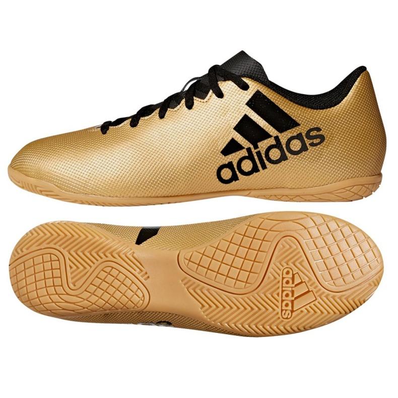 Indoor-Schuhe adidas X Tango 17.4 In M CP9149 gold, schwarz gold