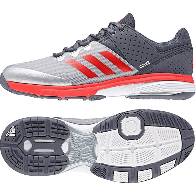 Adidas Court Stabil Handballschuhe grau