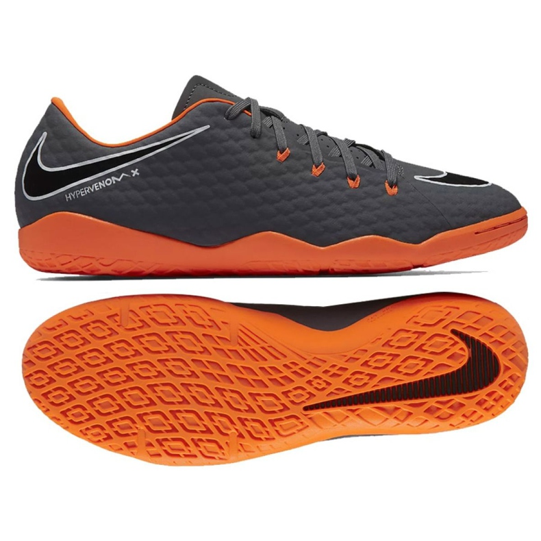 Fußballschuhe Nike Hypervenom Phantom 3 Academy Ic M AH7278-081 grau / silber grau