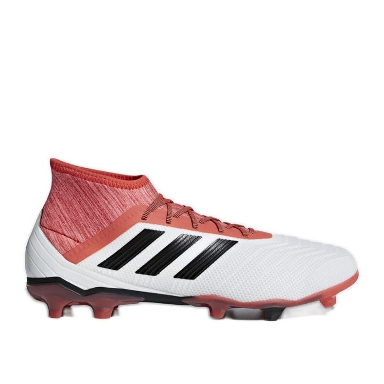 Fußballschuhe adidas Predator 18.2 Fg M CM7666 weiß weiß, rot