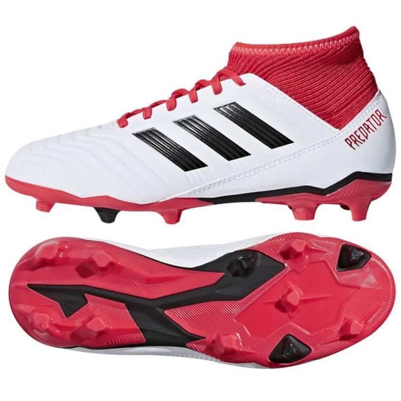 Fußballschuhe adidas Predator 18.3 Fg Jr CP9011 weiß weiß, rot