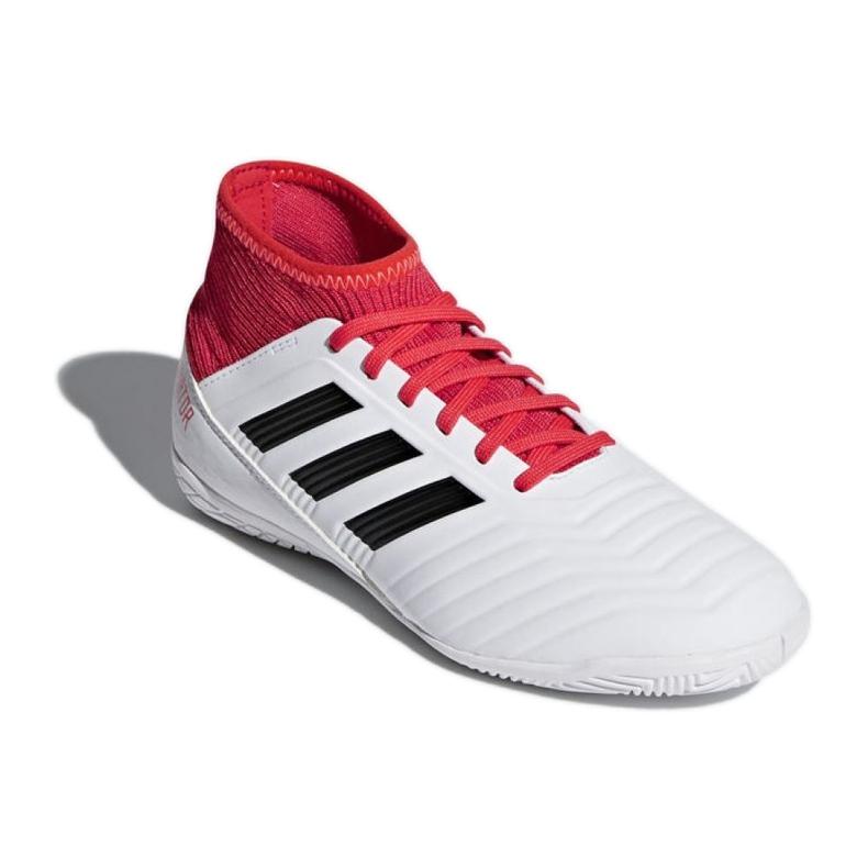 Adidas Predator Tango 18.3 In Jr CP9073 Indoor-Schuhe weiß, rot weiß