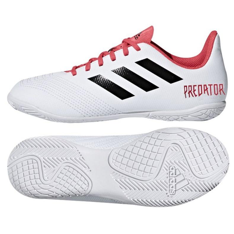 Adidas Predator Tango 18.4 In Jr CP9103 Indoor-Schuhe weiß weiß, rot