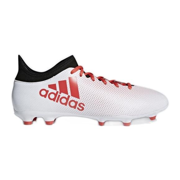 Fußballschuhe adidas X 17.3 Fg M CP9192 weiß, rot mehrfarbig