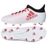 Fußballschuhe adidas X 17.3 Fg Jr CP8991 weiß, rot weiß