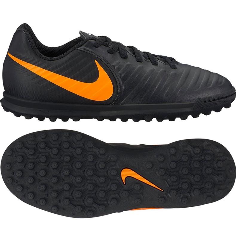 Nike LegendX 7 Club Tf Jr AH7261-080 Fußballschuhe schwarz schwarz
