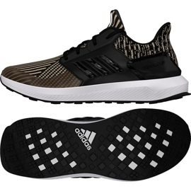 Laufschuhe adidas Rapida Run Knit Jr DB0220 schwarz