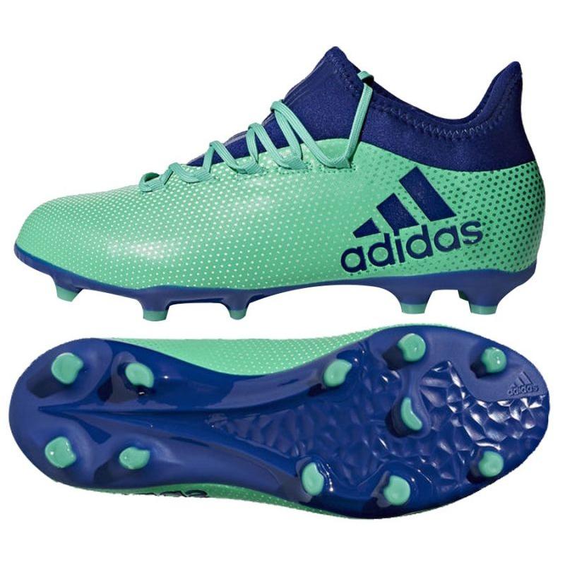 Fussballschuhe Adidas X 17 1 Fg Jr Cp8980 Blau Grun Turkis